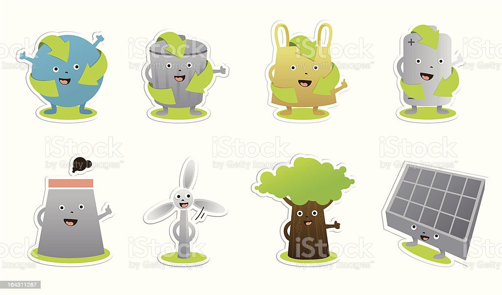 ecological characters royalty-free stock vector art