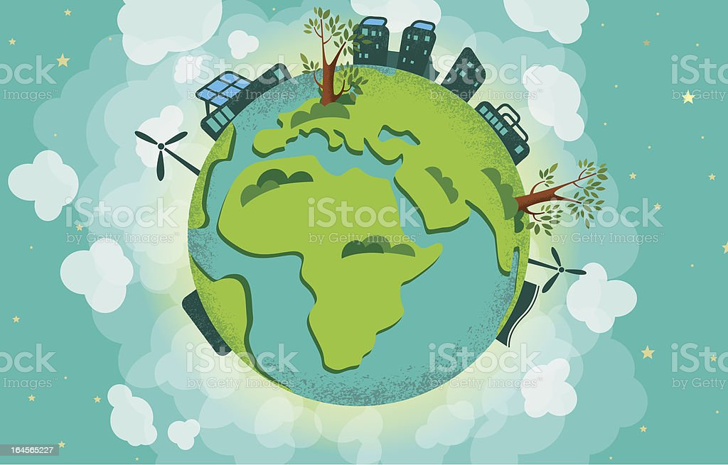 Ecological earth royalty-free stock vector art