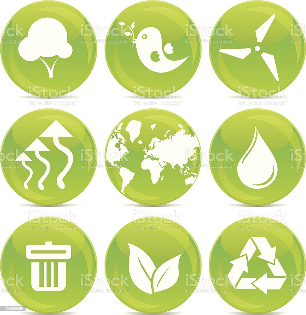 ecological friendly icons royalty-free stock vector art