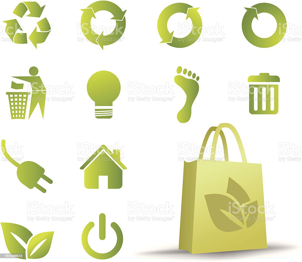 Ecological icon set royalty-free stock vector art