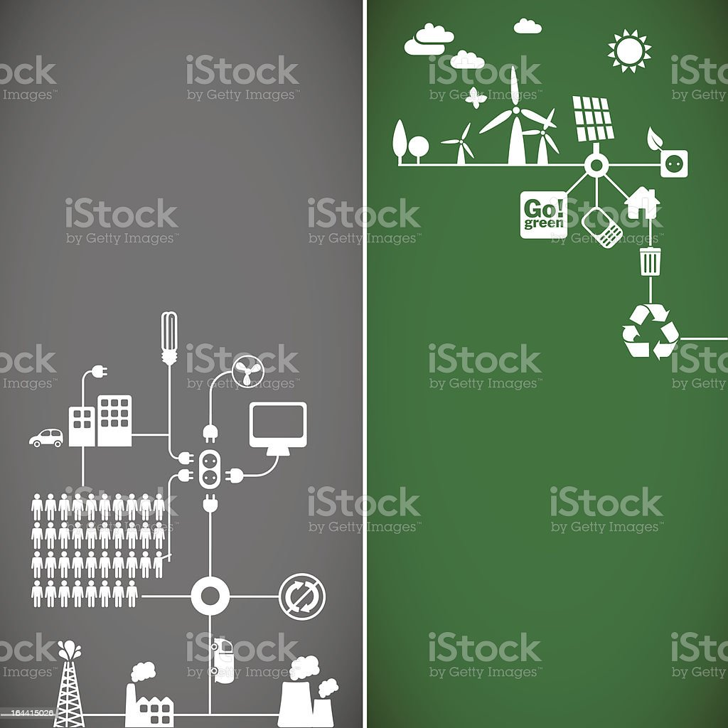 ecology banners royalty-free stock vector art