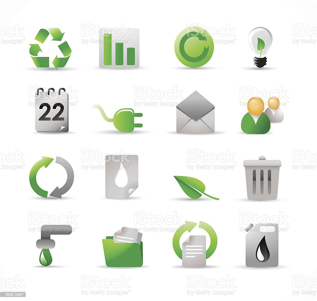 ecology icons 2 royalty-free stock vector art
