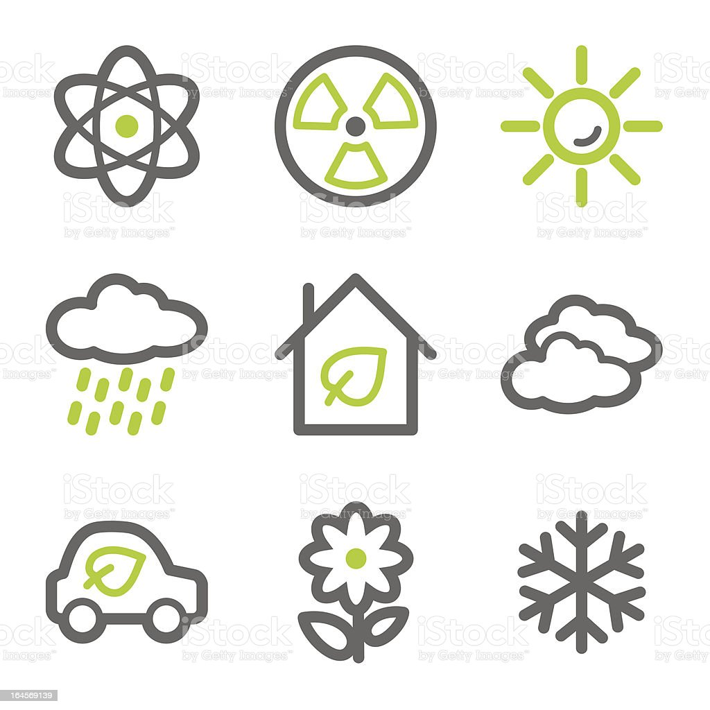 Ecology web icons royalty-free stock vector art
