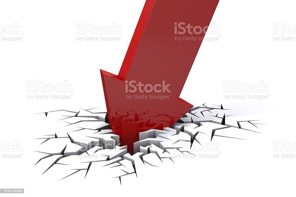 Economic Crisis. Bussiness fall. vector art illustration