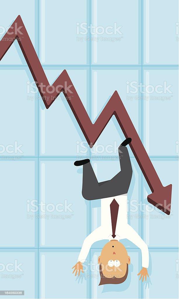 Economic depression / Falling business royalty-free stock vector art