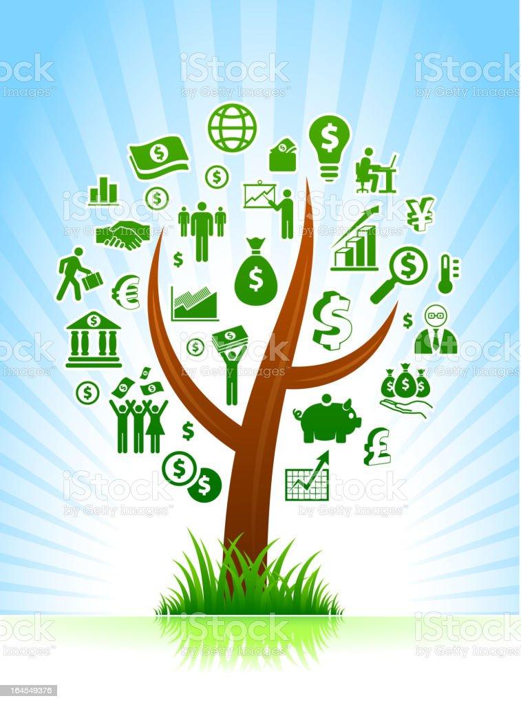 Economy royalty free vector arts on Tree Background royalty-free stock vector art