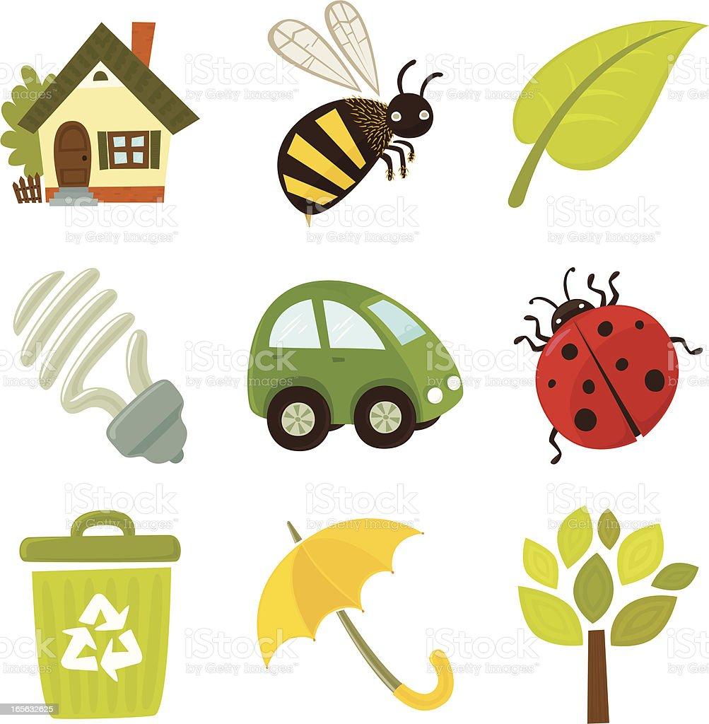 E-cons Environmental icon set vector art illustration