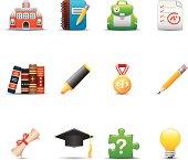 Education Icon Set | Elegant Series