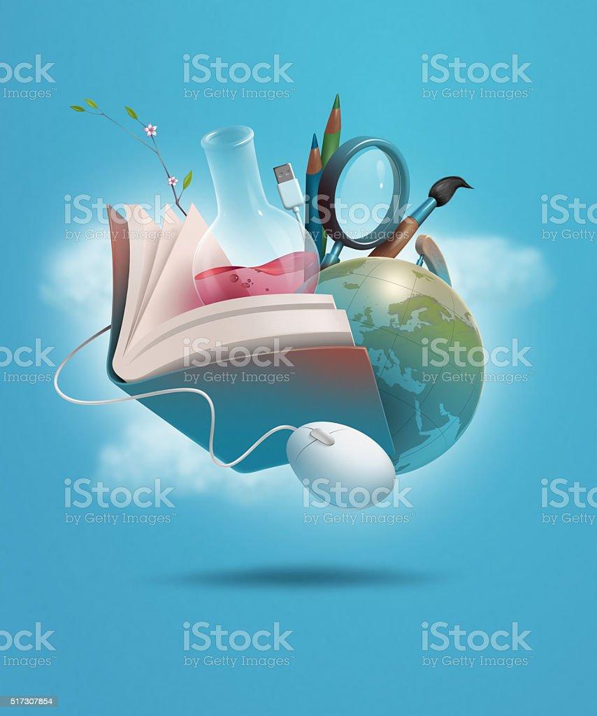 education study ken vector art illustration