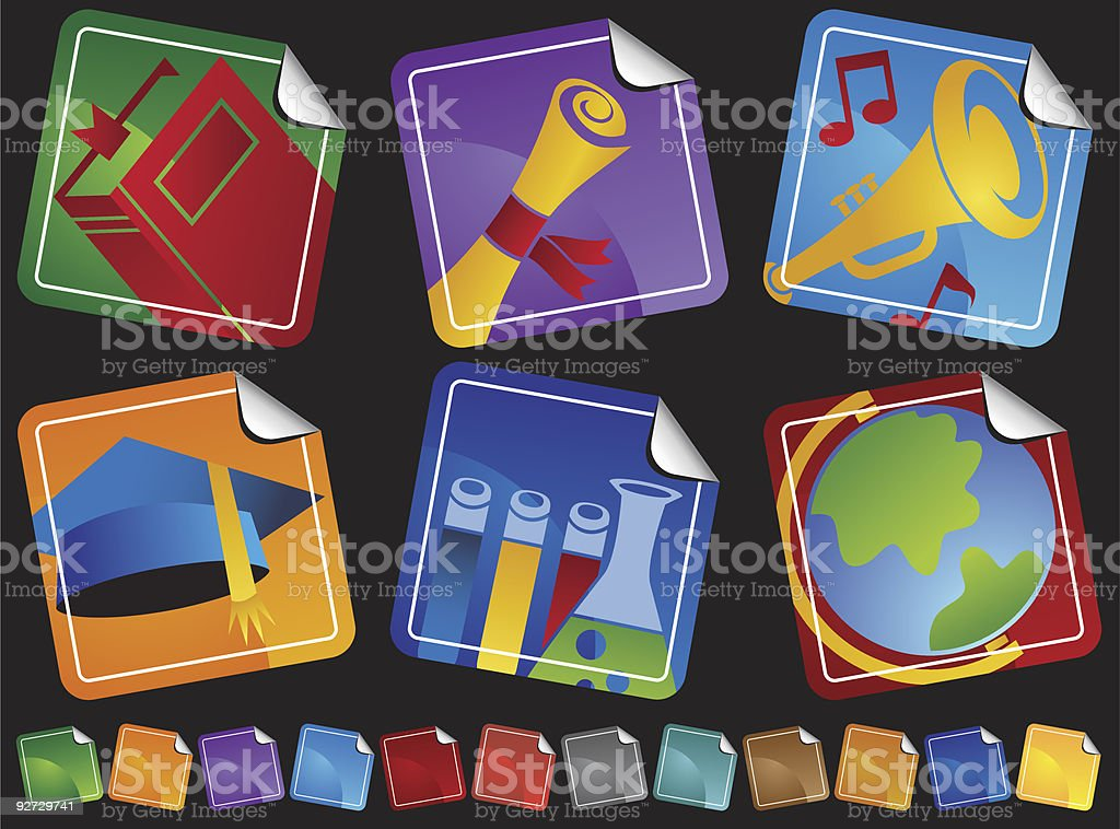 Education Zoom Icons royalty-free stock vector art