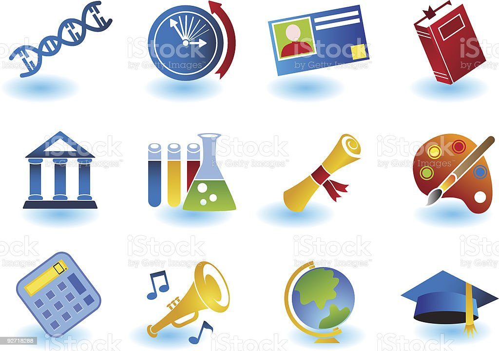 Educations Icons royalty-free stock vector art