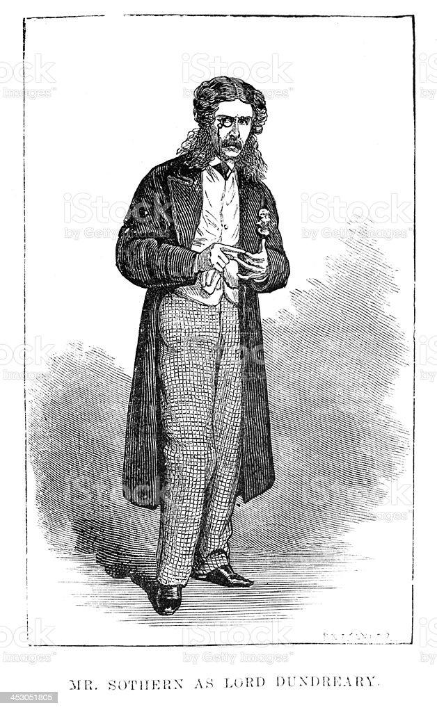 Edward Askew Sothern vector art illustration