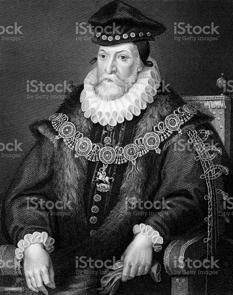 Edward Clinton, 1st Earl of Lincoln royalty-free stock vector art