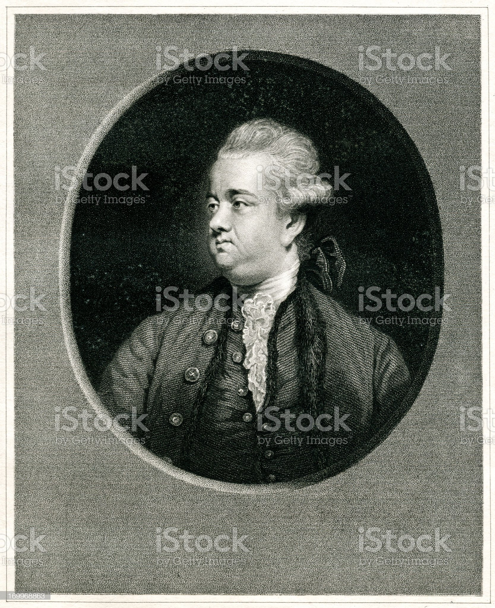 Edward Gibbon royalty-free stock vector art