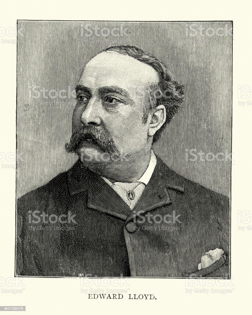 Edward Lloyd (tenor) vector art illustration