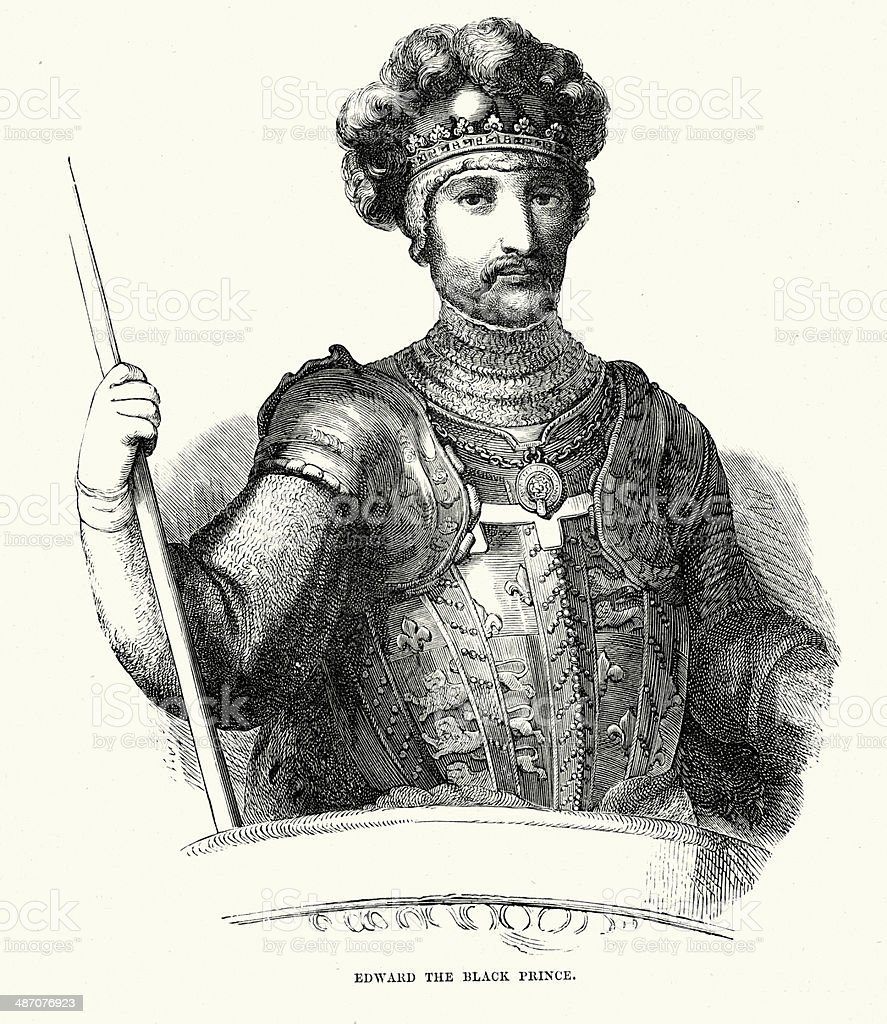 Edward the Black Prince royalty-free stock vector art