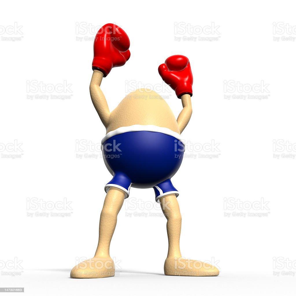 Egg boxing - biggest winner royalty-free stock vector art