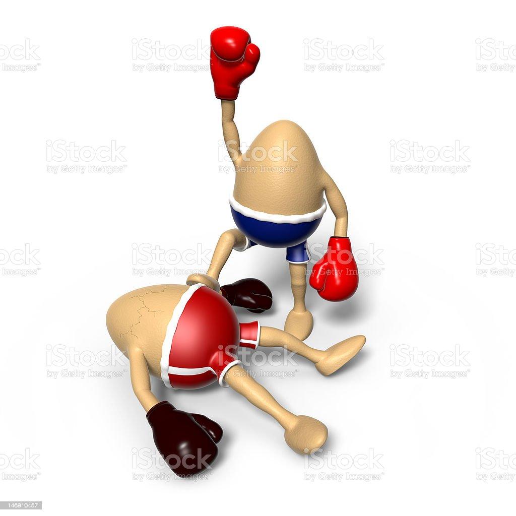 Eggs boxing - Winner on Top royalty-free stock vector art
