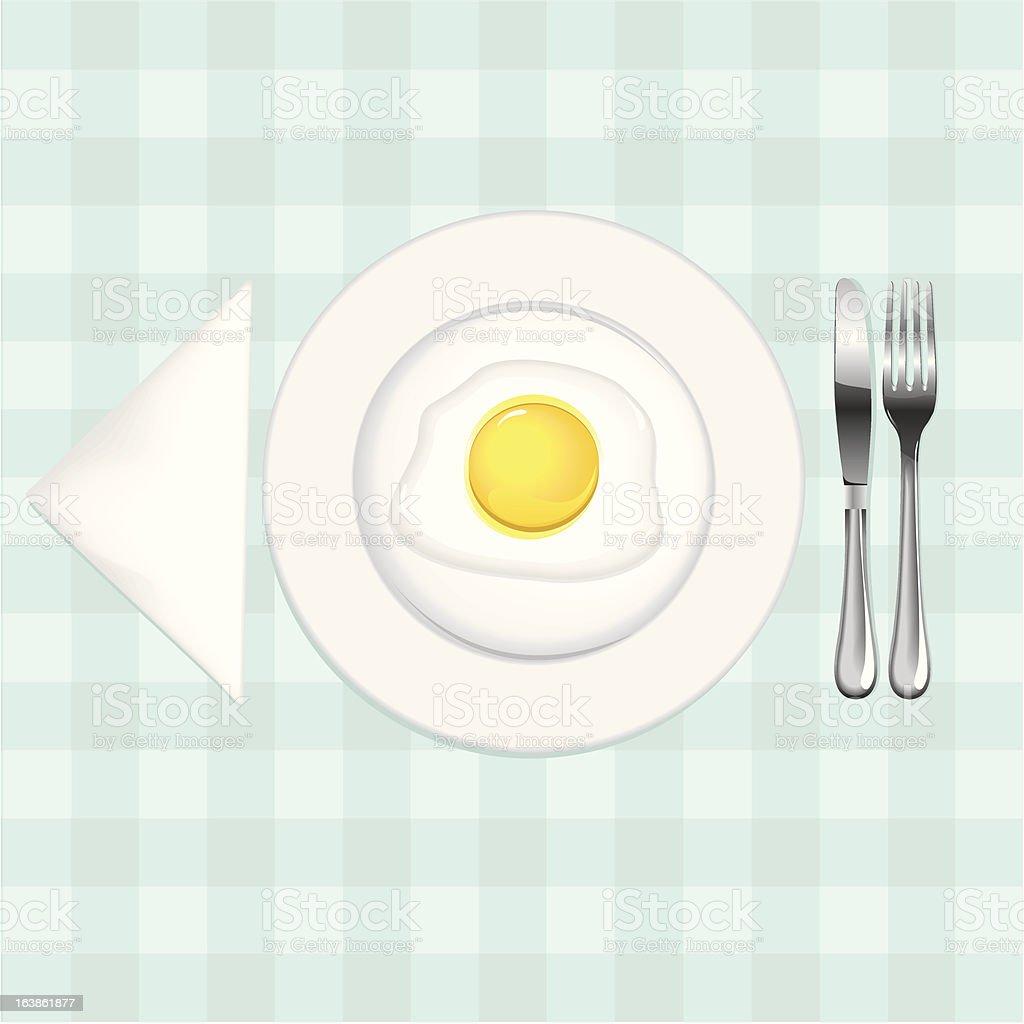 eggs for breakfast royalty-free stock vector art
