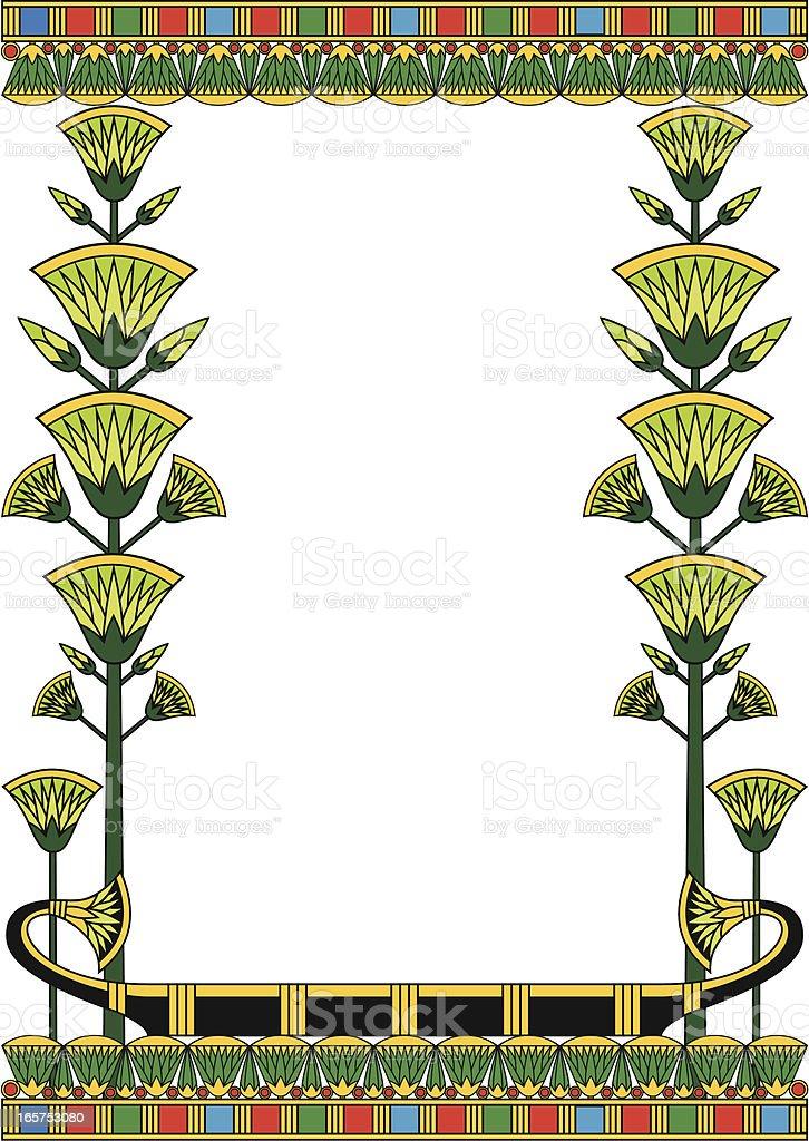 Egypt Frame vector art illustration