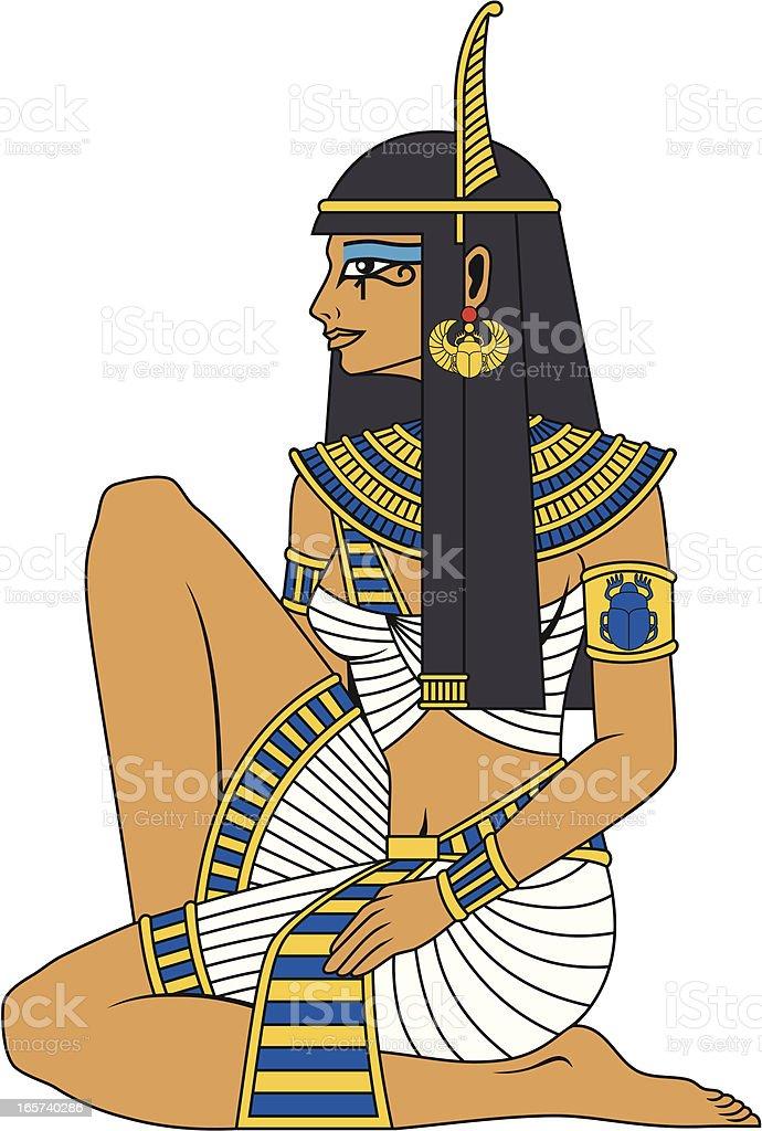 Egypt Girl royalty-free stock vector art