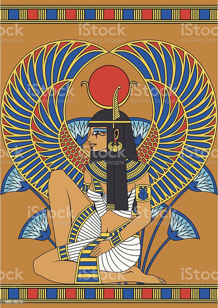 Egypt Girl vector art illustration