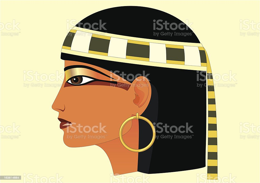 Egypt Profile royalty-free stock vector art