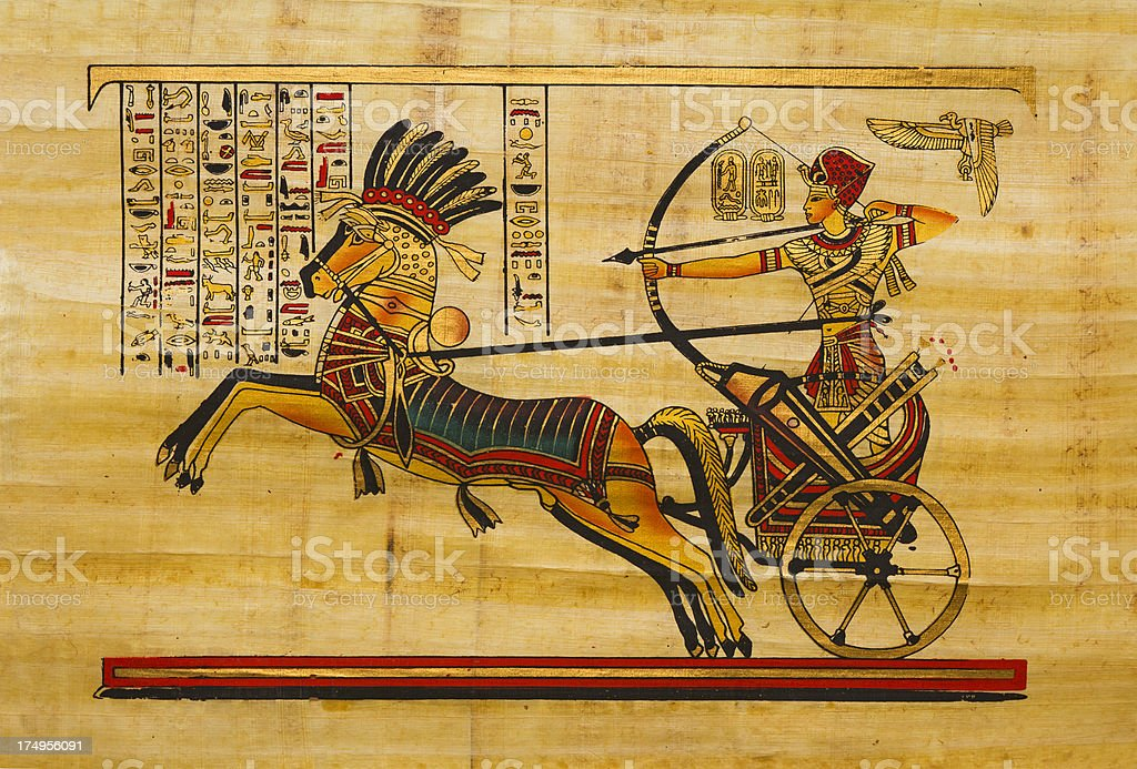 Egyptian ancient papyrus royalty-free stock vector art