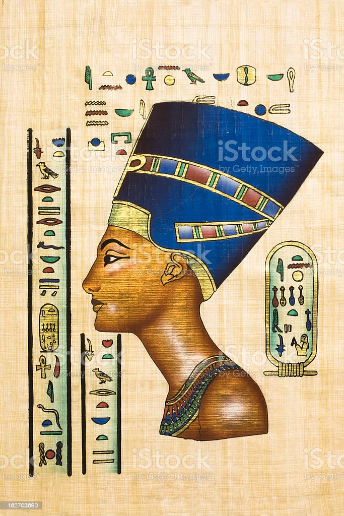 Egyptian ancient papyrus vector art illustration