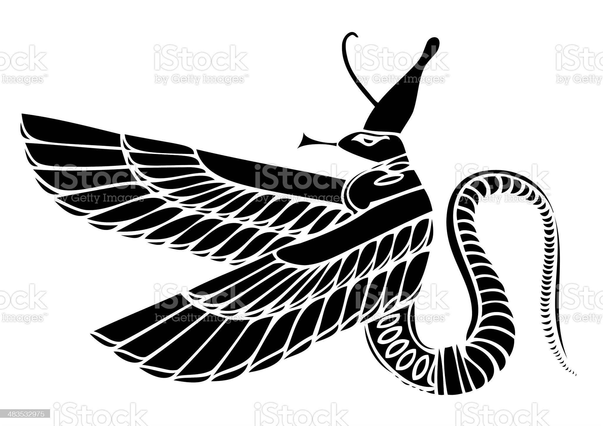 Egyptian demon royalty-free stock vector art