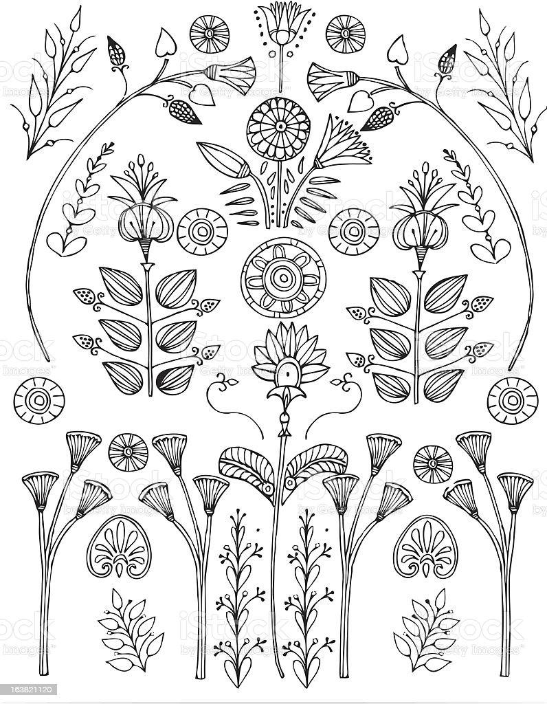 egyptian flowers royalty-free stock vector art