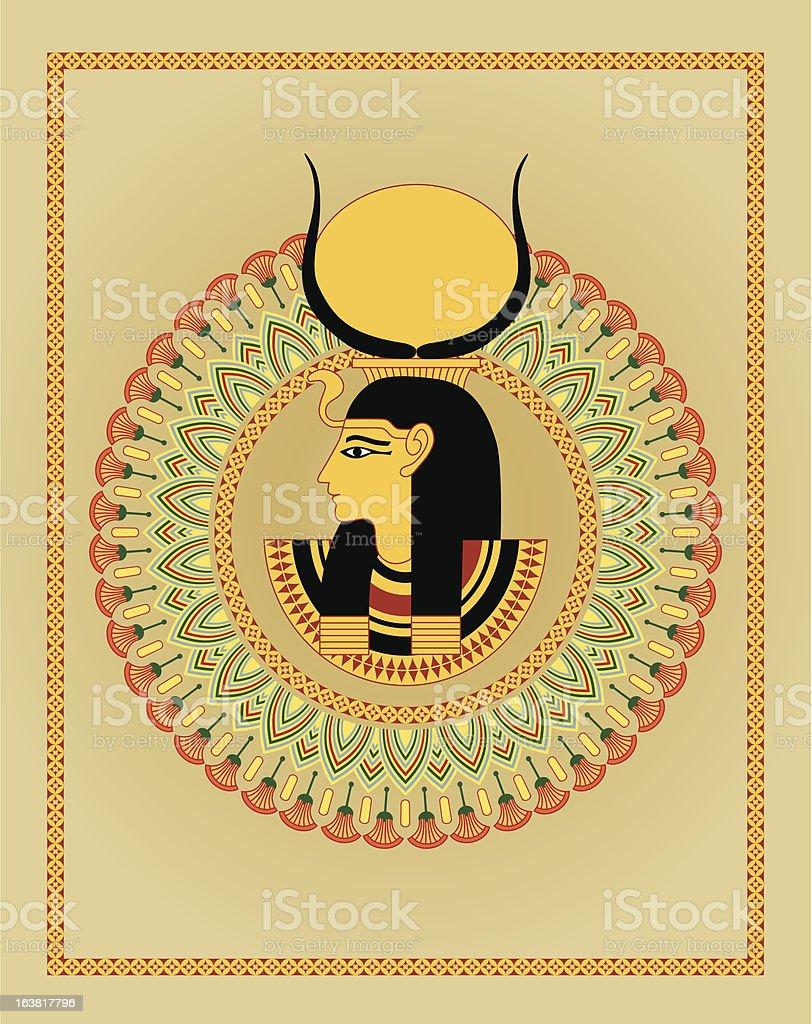 egyptian ornament and pharaoh royalty-free stock vector art