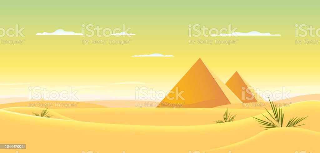 Egyptian Pyramid vector art illustration