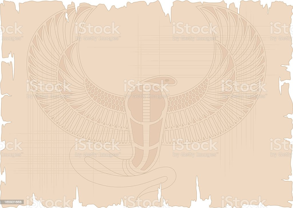 Egyptian Snake on Papyrus royalty-free stock vector art