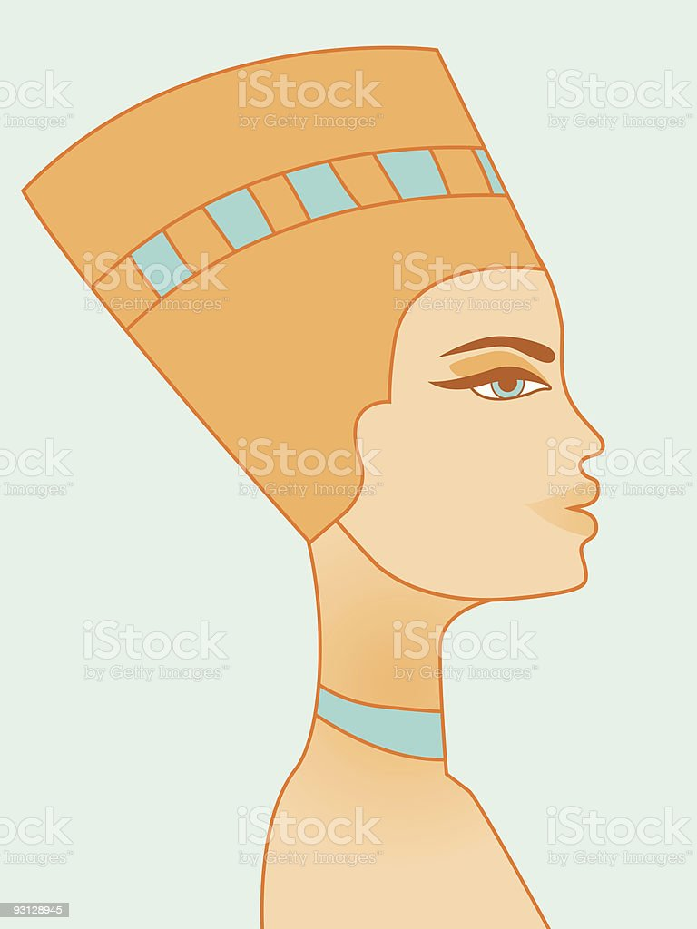 Egyptian woman vector art illustration