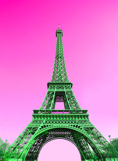 Eiffel Tower In Paris Vector Art Illustration