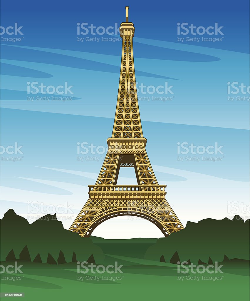Eiffel Tower Paris France royalty-free stock vector art