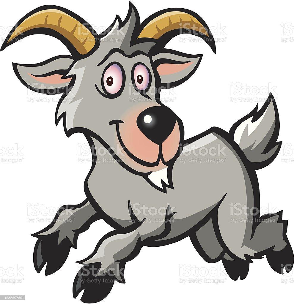 Eine Ziege. vector art illustration