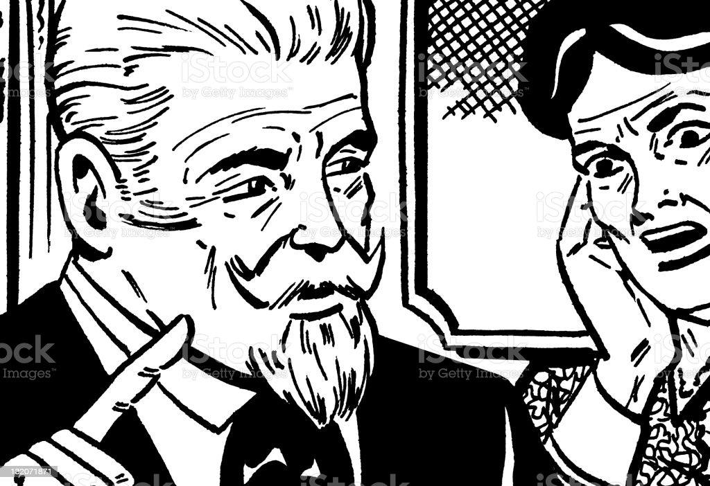 Elderly Couple Arguing royalty-free stock vector art