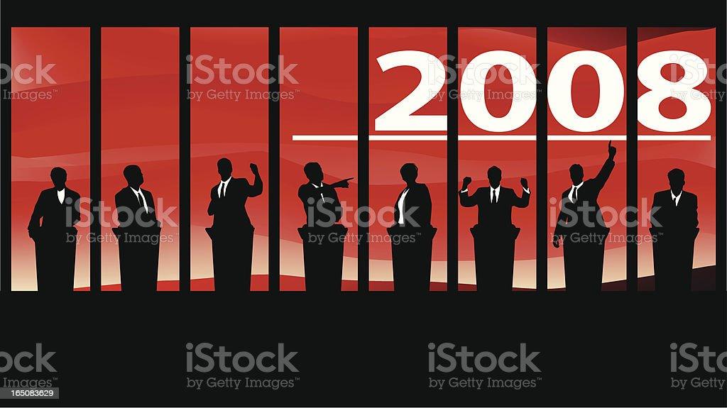 Election 2008 - debates vector art illustration