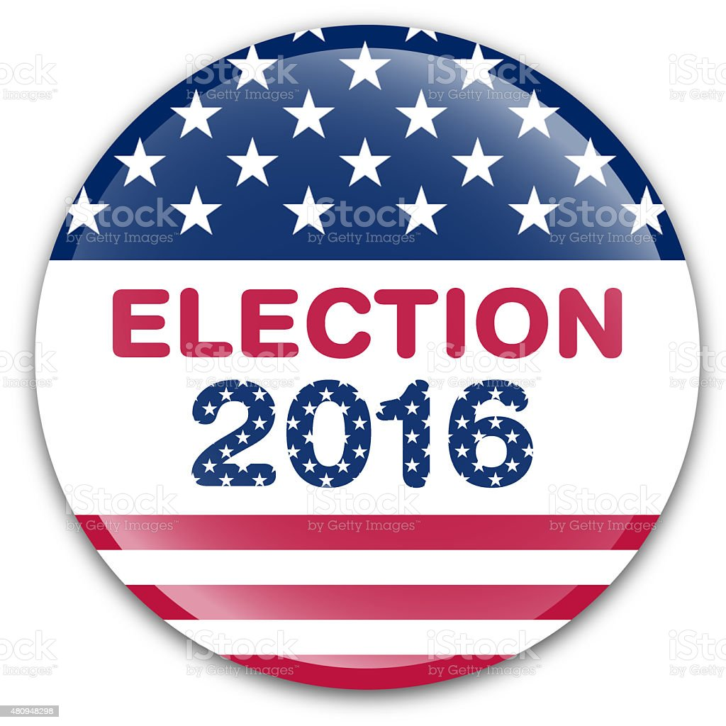 USA Election 2016  badge vector art illustration