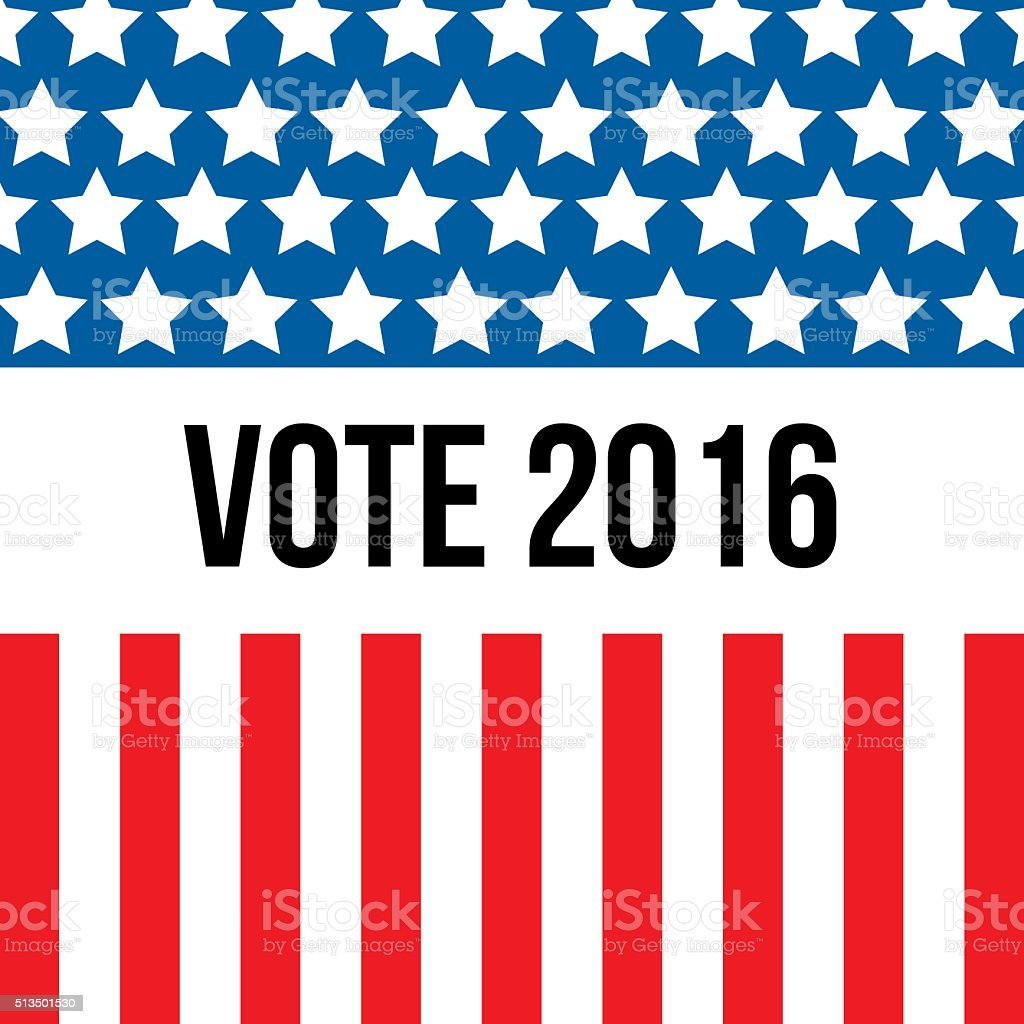 USA election background vector art illustration