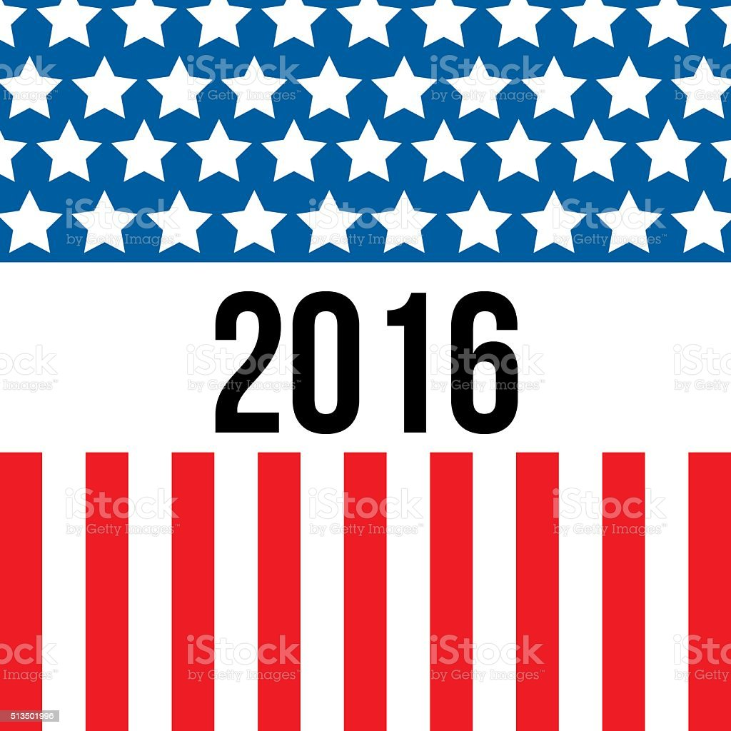 USA election background vector art illustration