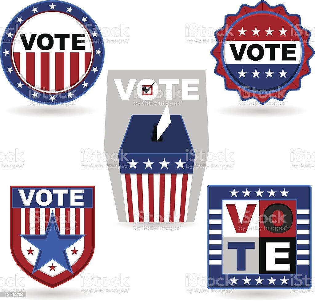 Election Emblem vector art illustration