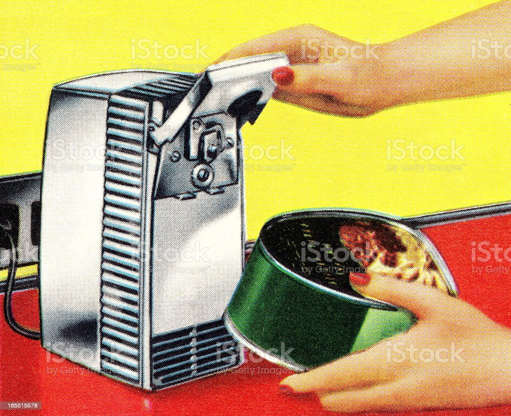 Electric Can Opener vector art illustration