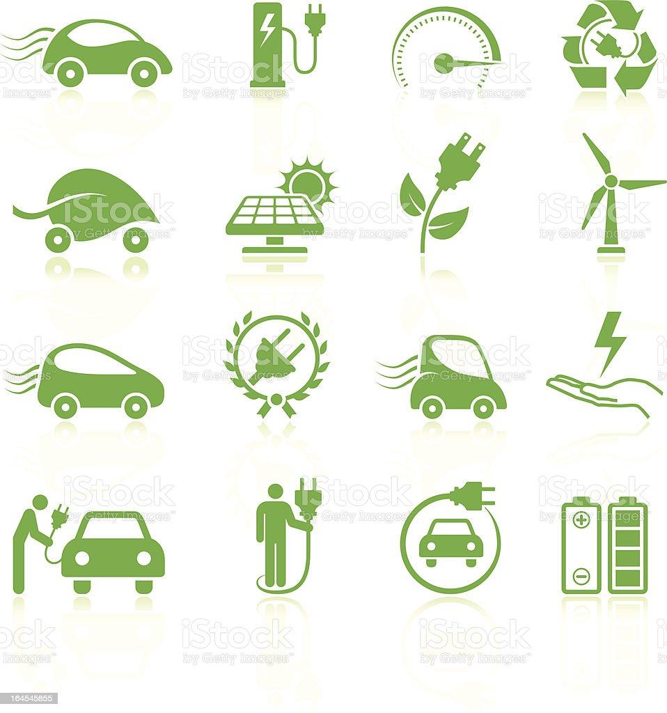 Electric car Environmental royalty free vector arts Collection vector art illustration