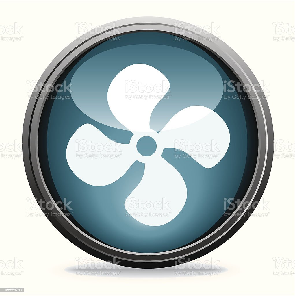 Electric Fan | Glass Collection royalty-free stock vector art