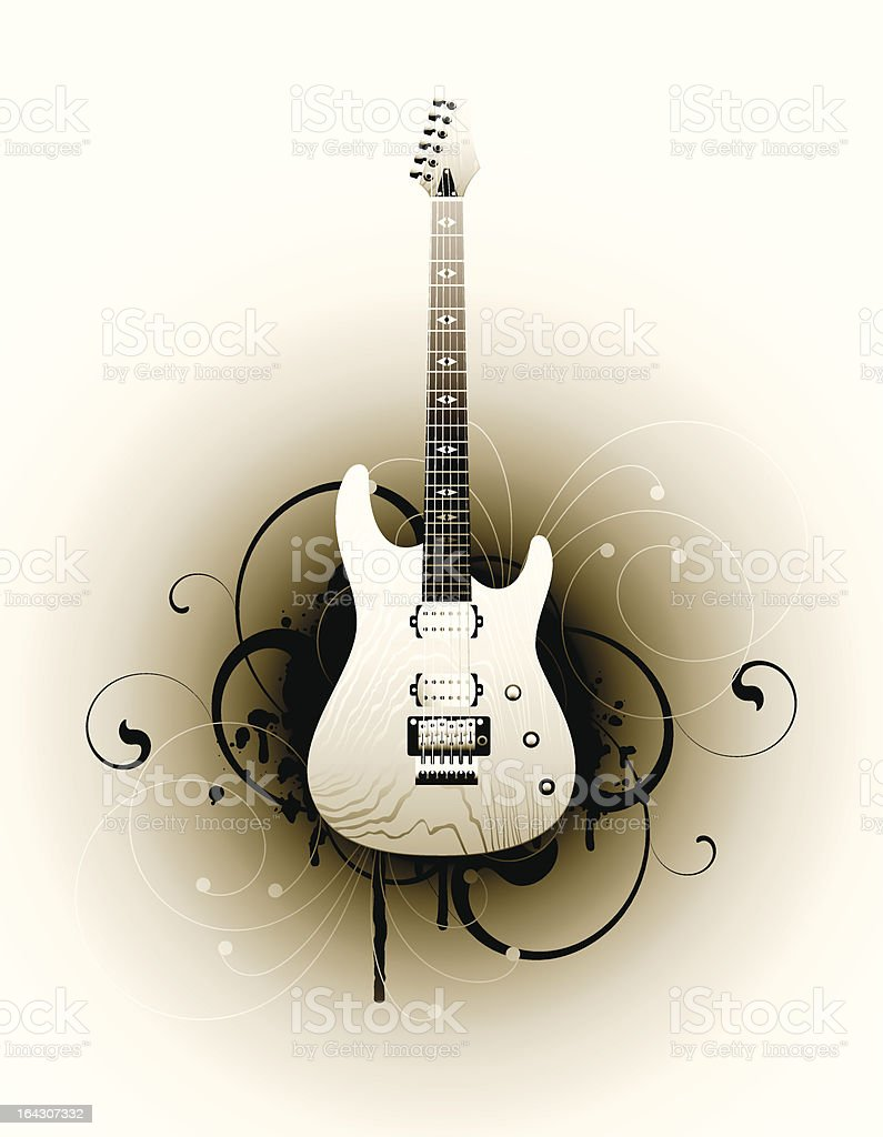 electric guitar royalty-free stock vector art