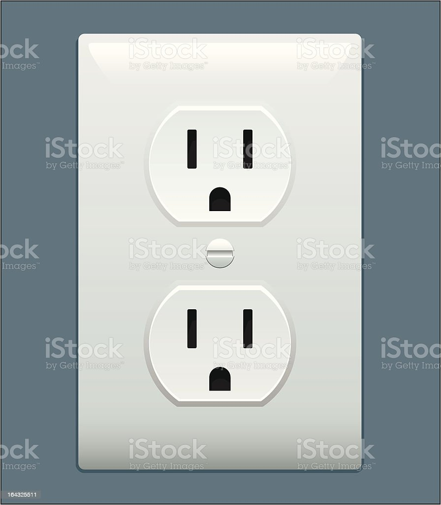 Electric outlet vector art illustration