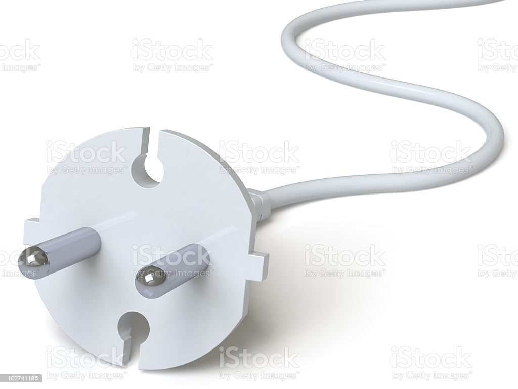 Electric plug royalty-free stock vector art